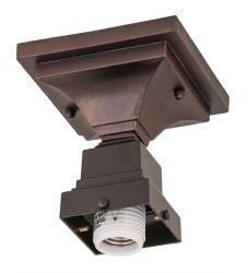 "5""Sq Mahogany Bronze 1 Lt Flushmount Hardware"