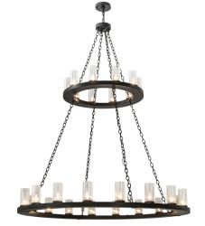 "60""W Loxley 28 Lt Two Tier Chandelier"