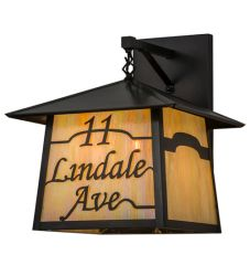 "16""W Personalized Stillwater Wall Sconce"