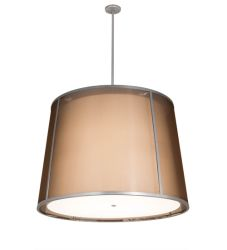 """42""""W Cilindro Textrene Tapered Pendant"""