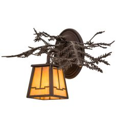 """16""""W Pine Branch Valley View Right Wall Sconce"""