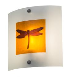 """11""""W Metro Fusion Dragonfly Wall Sconce"""