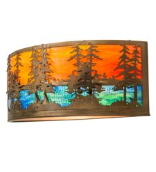 """30""""W Tall Pines Wall Sconce"""