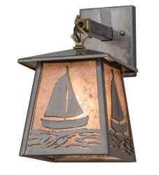 "7""W Sailboat Wall Sconce"