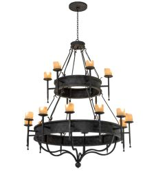 "60""W Gina 18 Lt Two Tier Chandelier"