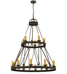 "48""W Lakeshore 15 Lt Two Tier Chandelier"