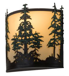 """12""""W Tall Pines Wall Sconce"""