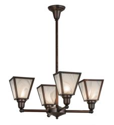 "27""W Metro White Baroque 4 Lt Chandelier"