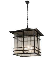 "30""Sq Tea House Lantern Pendant"