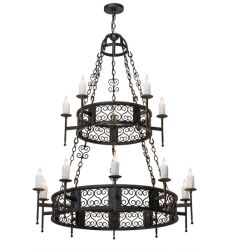 "48""W Toscano 15 Lt Two Tier Chandelier"