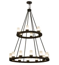 """42""""W Loxley 18 Lt Two Tier Chandelier"""