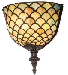 "8""W Tiffany Fishscale Wall Sconce"