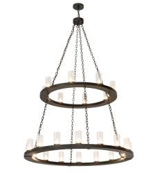 """54""""W Loxley 24 Lt Two Tier Chandelier"""