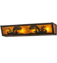 "24""W Leaping Trout Vanity Light"