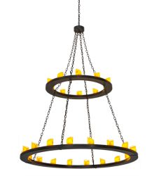 """60""""W Loxley 28 Lt Two Tier Chandelier"""
