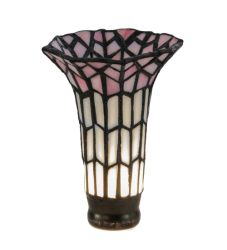 """4""""W X 5.5""""H Tiffany Pond Lily Pink And White Shade"""