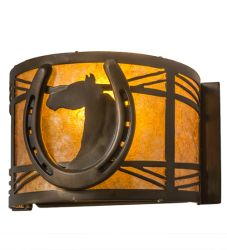"8""W Horseshoe Wall Sconce"