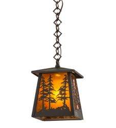 """7""""Sq Tall Pines Mini Pendant"""
