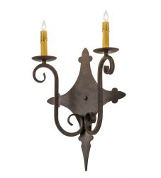 """12""""W Angelique 2 Lt Wall Sconce"""