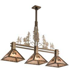 "45""L Balsam Pine Tall Pines 3 Lt Island Pendant"
