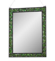 """28""""W X 36""""H Oak Leaf Mirror"""