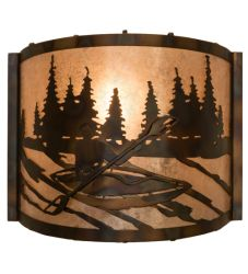 """12""""W Kayaker Wall Sconce"""