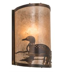 """8""""W Loon Left Wall Sconce"""