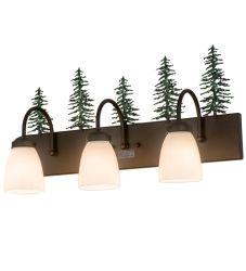 "24""W Tall Pines 3 Lt Vanity Light"