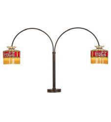 "45""H Coca-Cola 2 Lt Swing Arm Table Lamp"
