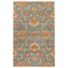 Classic Oriental Pattern Blue/Yellow Wool Area Rug (9X12)
