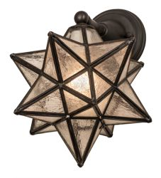"10""W Moravian Star Wall Sconce"