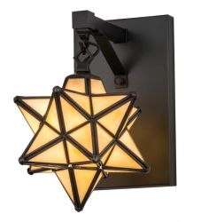 """9"""" Moravian Star Wall Sconce"""