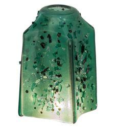 "4""Sq Metro Fusion Seaglass Draped Shade"