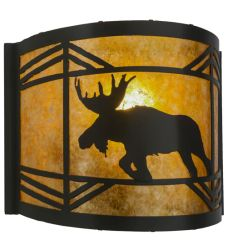 """12""""W Lone Moose Wall Sconce"""
