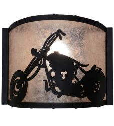 """12""""W Motorcycle Wall Sconce"""