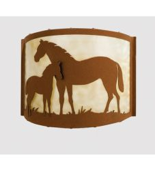 "12""W Mare & Foal Wall Sconce"