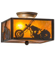 """10""""Sq Motorcycle Flushmount"""
