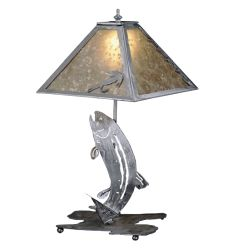 "21""H Leaping Trout Table Lamp"