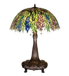 "31""H Tiffany Honey Locust Table Lamp"