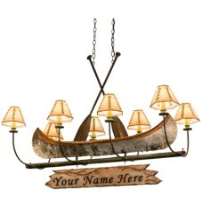 "48""L Personalized Canoe 8 Lt Chandelier"