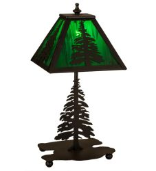 "14""H Tall Pines Accent Lamp"
