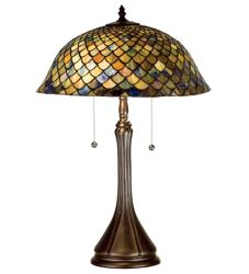 "23""H Tiffany Fishscale Table Lamp"