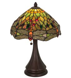 "18""H Tiffany Hanginghead Dragonfly Accent Lamp"