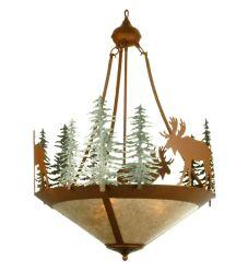 "24""W Wandering Moose Inverted Pendant"