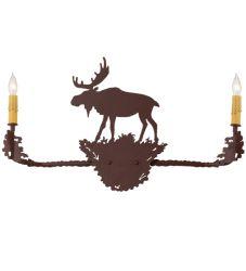 """25""""W Moose 2 Lt Wall Sconce"""