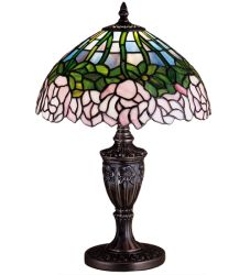 """18""""H Cabbage Rose Accent Lamp"""