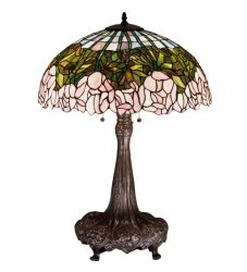 """31""""H Cabbage Rose Table Lamp"""