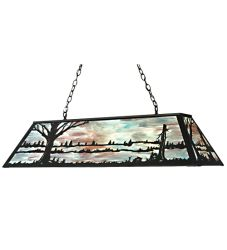 "48""L Quiet Pond Oblong Pendant"