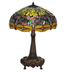"32""H Tiffany Hanginghead Dragonfly Table Lamp"