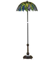 """60""""H Tiffany Honey Locust Floor Lamp"""